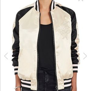 Members Only Faux Satin Quilted Reversible Jacket